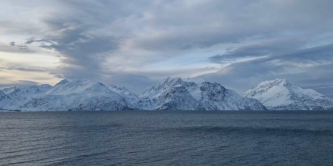 Los Alpes de Lyngen desde la E6