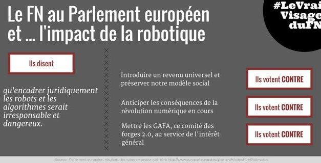 Le FN au Parlement européen et… l'impact de la robotique