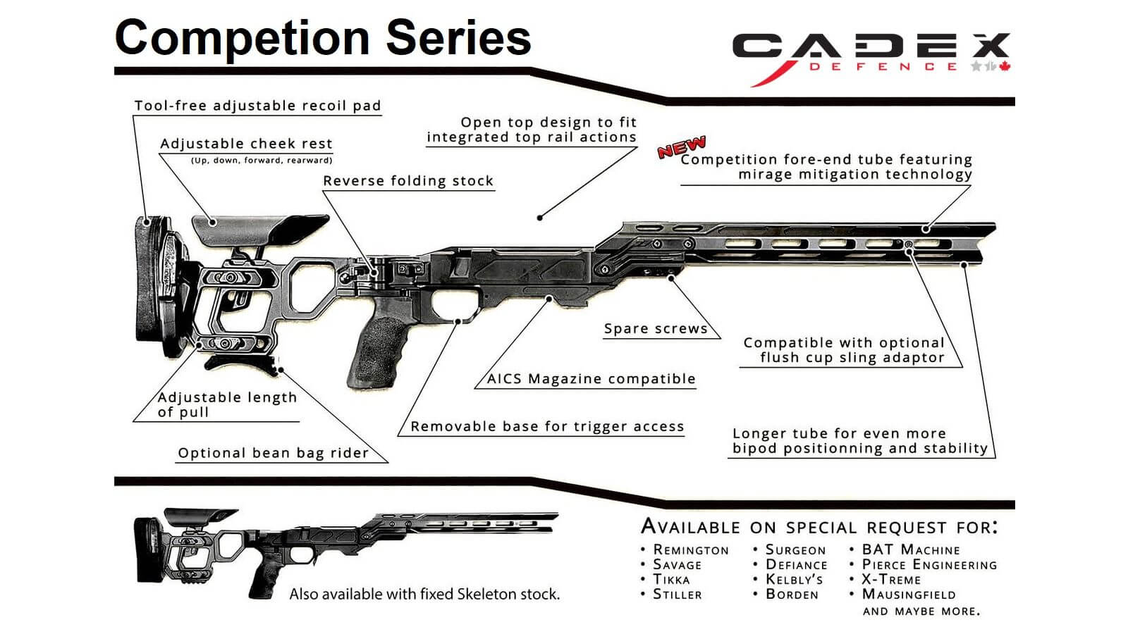 Cadex Field Competition Chassis