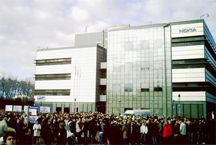 Demo vor Bochumer Nokia-Werk