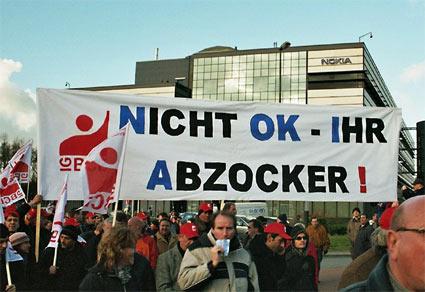 Nokia-Protest in Bochum
