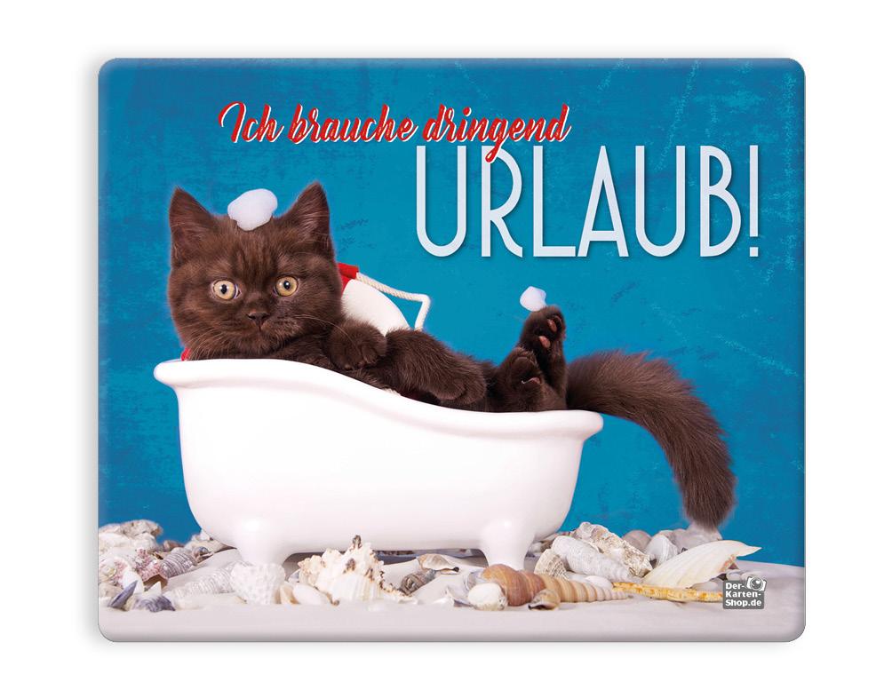Mauspad Mousepad Katze In Badewanne Ich Brauche Dringend Urlaub