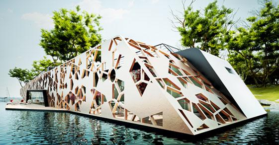 Villa O , floating home