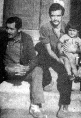 Mario Lagos con su hijo Pablo y su hermano Antonio