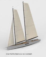 Persak & Wurmfeld / Derecktor 44m concept schooner