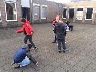 meten op het schoolplein