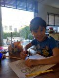 Noel maakt een werkblad