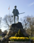 Lexington Green Statue and Flag