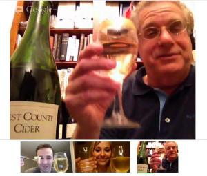 Warren Russet Hard Cider Toast via Google Plus (Oct 22, 2012)