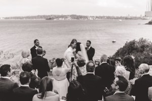 The first kiss during a wedding ceremony at Sergeants Mess