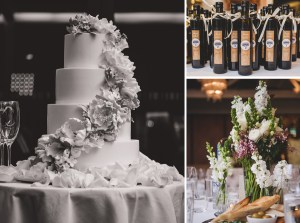 Wedding cake and details at Sergeants Mess