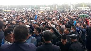 Store demonstrasjoner mot kinesisk kaptal i Kasakhstan.