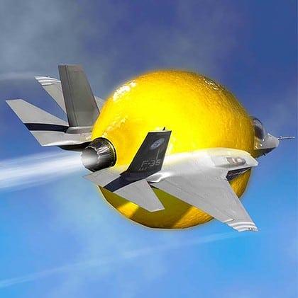 F-35 er en sitron. Flyet er fortsatt beheftet med utallige feil. Prisen står ikke i forhold til hva den leverer.