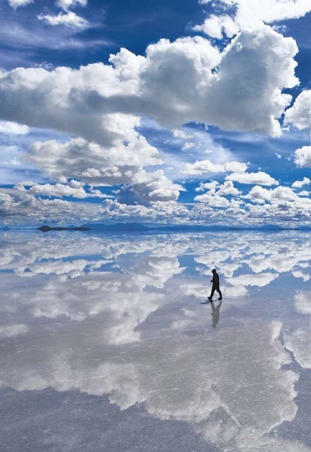 Verdens største speil er denne flaten kalt. Her er verdens største lithiumforekomst.