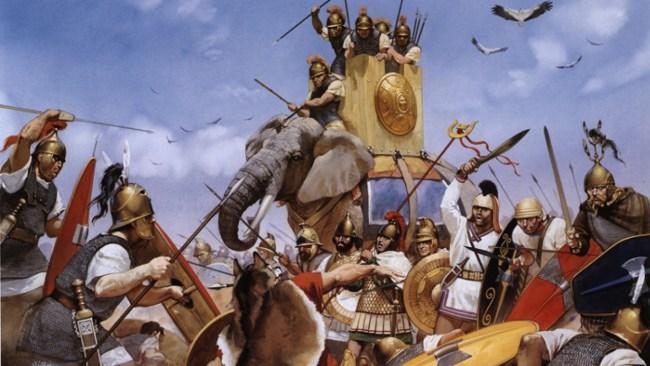 Da Hannibal gikk over Alpene for 2200 år siden gikk over Alpene med elefanter var det varmere enn i dag. Det var derfor han klarte det.