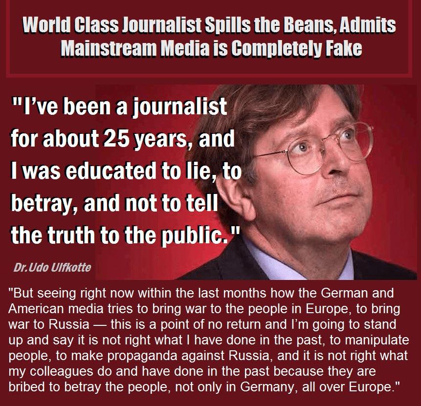 Store deler av vestlige nyhetsmedier er kontrollerte av CIA og derigjennom av USA sier denne tyske redaktøren.