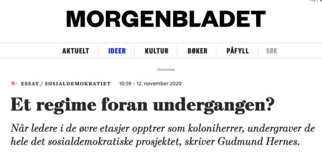 Tidl Ap-statsråd og leder av den første maktutredninga har skrivi en artikkel på oppfordring fra Morgenbladet etter at Jan Bøhler gikk ut av Ap. God analyse, men uten forslag til løsning.