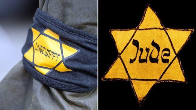 Tyske myndigheter vil forby jakkemerker hvor det står uvaksinert. minner for mye om jøde-merkene under 2. Verdenskrig.