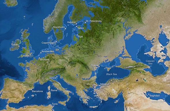 Buzulların Tamamen Erimesi Durumunda  Deniz Seviyesinin 65 Metre Yükselerek İngiltere ve ABD'nin Doğu Sahilleri, Danimarka'nın Büyük Bölümü, Çin'deki Geniş Topraklar Ve Bangladeş'in Tümü Sular Altında Kalacak.  Karadeniz Ve Hazar Denizi'nin Birleşecektiği, Mısır'ın Kahire Ve İskenderiye Kentlerinin De Yok Olduğu Görülüyor