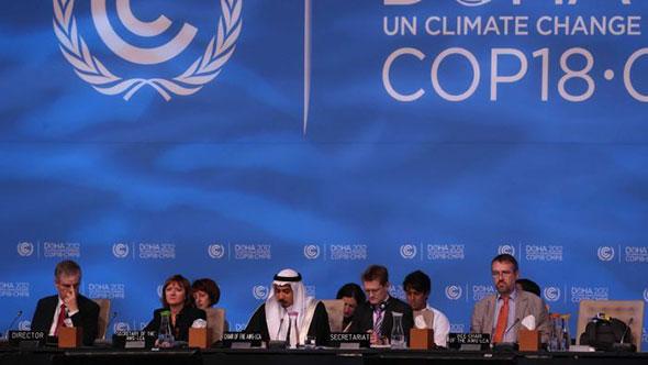 Katar'ın Başkenti Doha'da Düzenlenen Birleşmiş Milletler (BM) İklim Değişikliği Konferansı