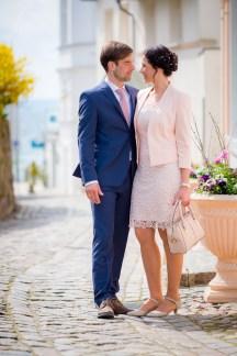 Brautpaar in Sassnitzer Altstadt