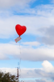 Luftballon in Herzform