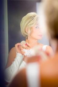 Braut im Spiegel
