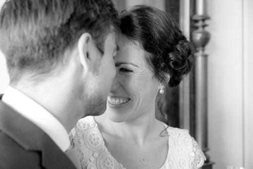 Braut lächelnd