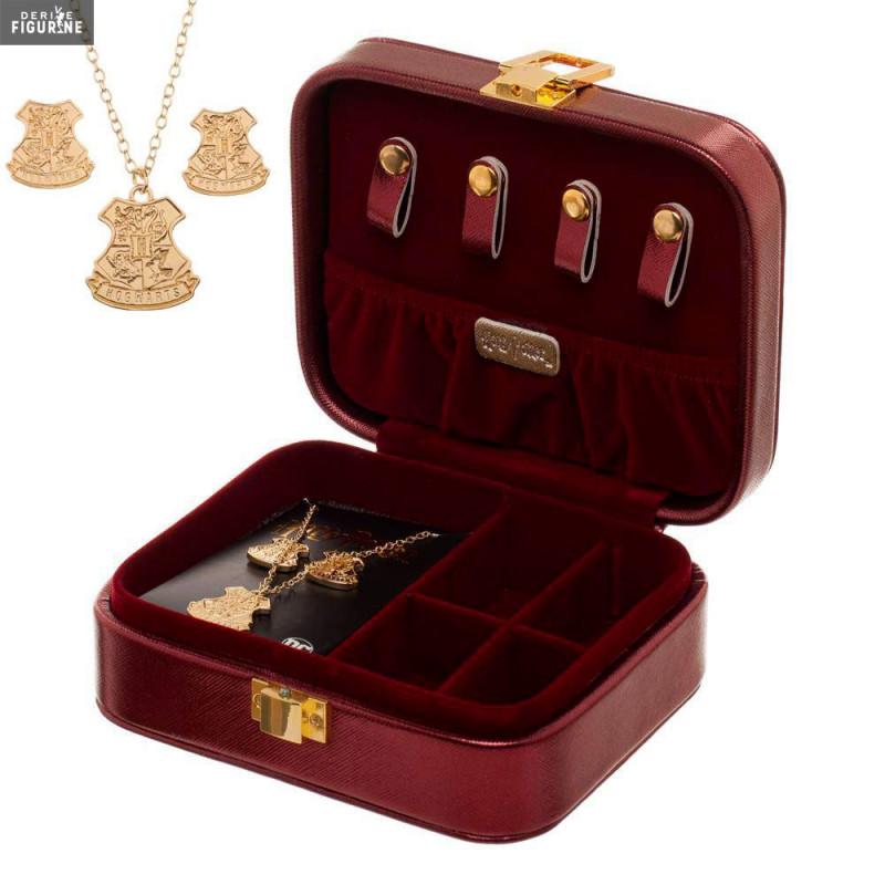 Pack Boite A Bijoux Collier Boucles D Oreilles Poudlard Harry Potter Bioworld