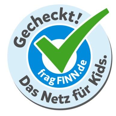 Der Button für kontrollierte Kinderseiten (Quelle: fragFINN.de)