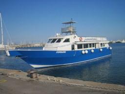 Die Corsara ist ein Wal- und Delfin-Beobachtungsboot (Foto: Susanne Gugeler)