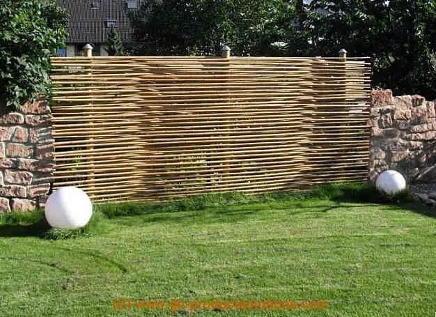 Bambus Sichtschutz Eleganter Bambuszaun Von GH Product