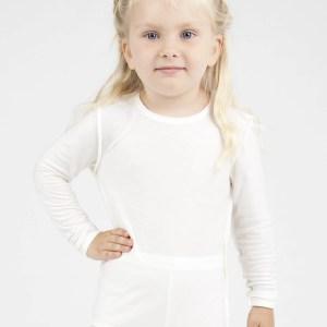 child wearing dermacura long sleeve shirt