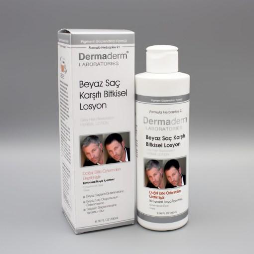 Beyaz Saç Önleyici Dermaderm Losyon 200 ml