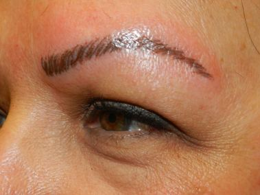 After Permanent Eyebrows c