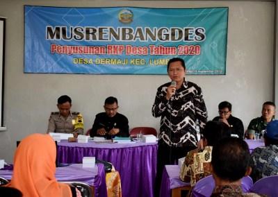 BPD Dermaji Selenggarakan Musrenbangdes Penyusunan RKP Desa 2020