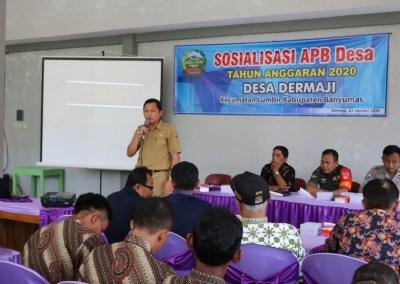 Kades Dermaji Sosialisasikan APB Desa Tahun 2020