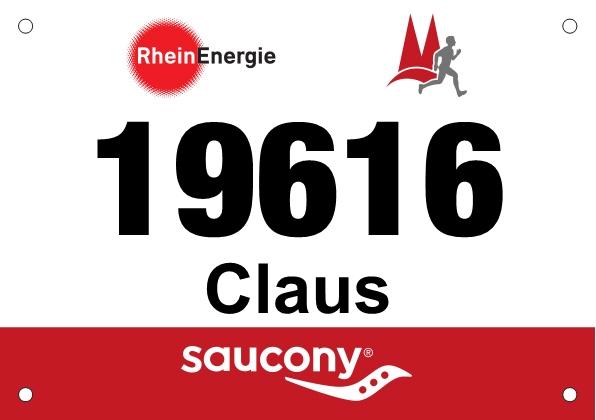 Köln Halbmarathon Startnummer 2018