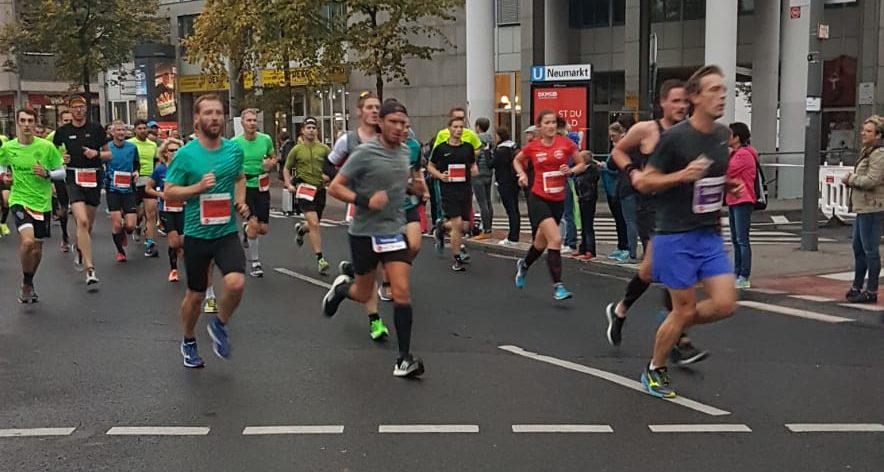 Kölner Halbamrathon 2018 Läufer km 2