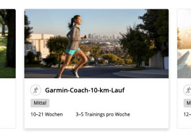 Trainieren mit dem Garmin Coach