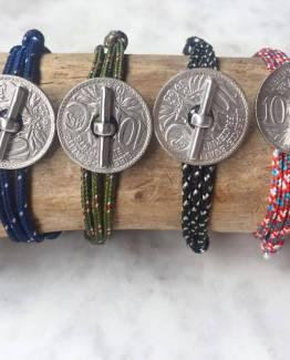 Bracelets Double Tour Barre Métallique