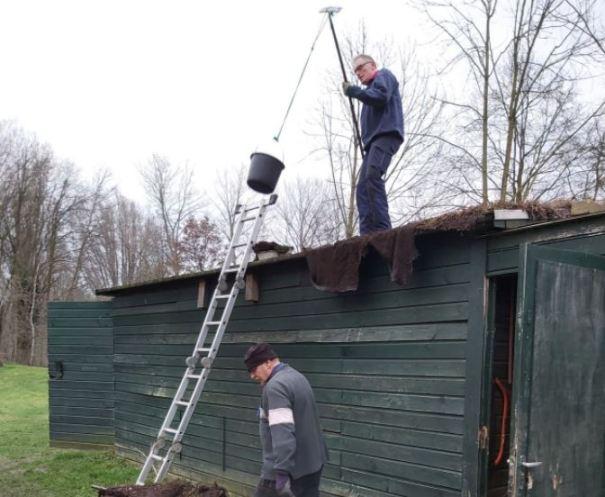 Stan en Rinus aan het werk
