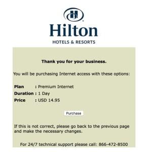 hilton wifi