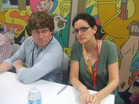 Matt Youngberg and Charlotte Fullerton at Ben 10 signing (NYCC 2012)
