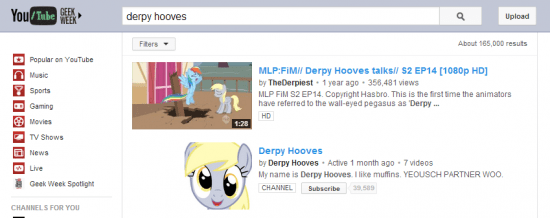 Derpy Hooves YouTube