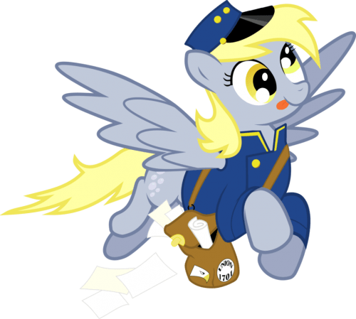 Derpy Mail Pony by ~masemj