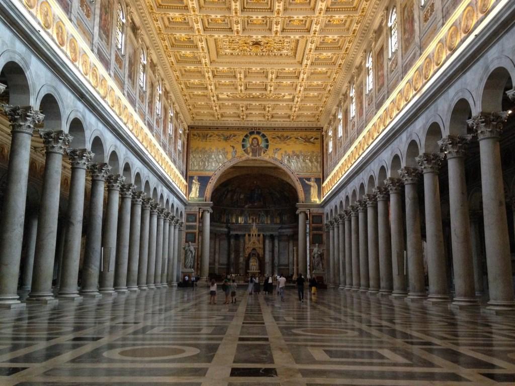 Nef centrale Basilque Saint-Paul hors les murs