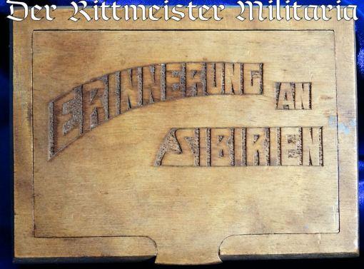 CIGARETTE BOX  - COMMEMORATING POST WW I SERVICE IN SIBERIA - Imperial German Military Antiques Sale