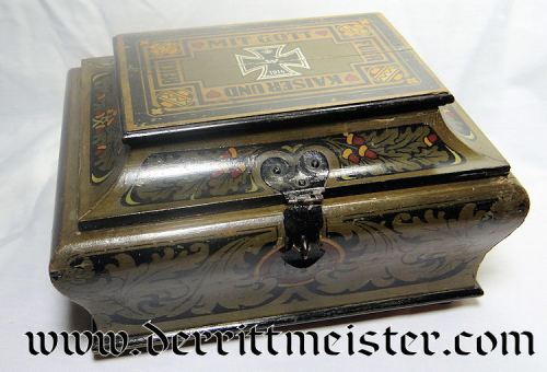 PRUSSIA - PATRIOTIC BOX - COMMEMORATING KAISER WILHELM II - Imperial German Military Antiques Sale