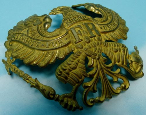 WAPPEN - PRUSSIA - FOR PICKELHAUBE - OFFICER - LINE-INFANTERIE/ARTILLERIE - PRE WW I - Imperial German Military Antiques Sale